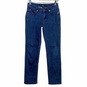 Earl Jean Straight Leg Low Rise Dark Wash Jeans